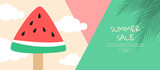 Bright Sweet fashion Style. Hot Summer Vibes. Pop Art. Creative Retro Design camera. Hipster Trendy ,water melon, Accessories. Sunny summer Still life. , Minimal Fun.Vanilla Pastel Color - 191725924