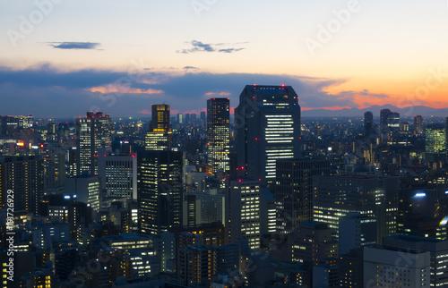 Foto op Plexiglas Tokio 東京 マジックアワー