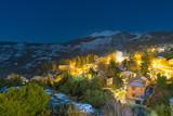 Middle Trikala night view in Corinth Greece.  - 191727583