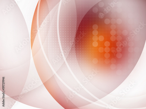 Abstract Colorful Futuristic Background With Circles