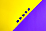 ultaviolet stars on a yellow and ultraviolet background