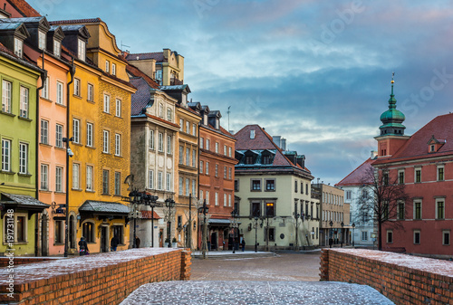 Fototapety, obrazy : Castle square on the old town Warsaw, Poland