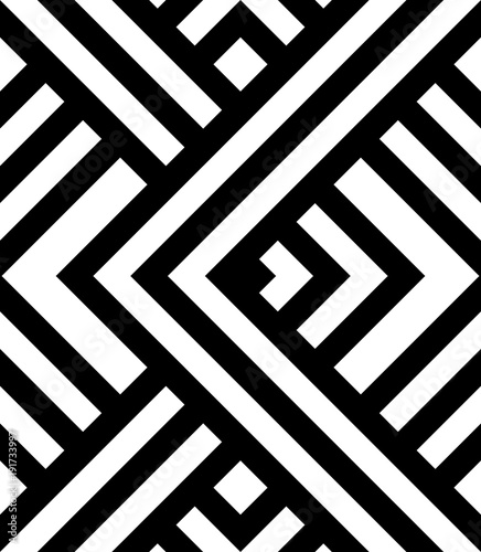 Seamless pattern with black and white diagonal stripes