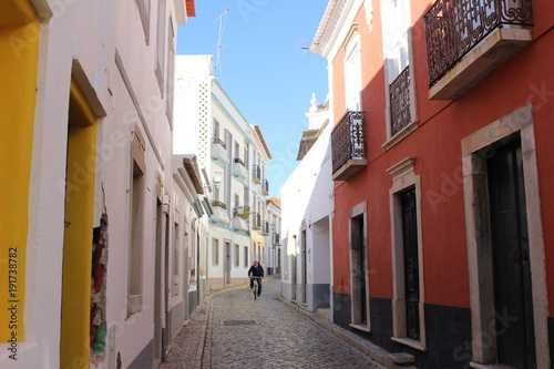 Fotobehang Smalle straatjes Vielas de Tavira - Algarve Portugues