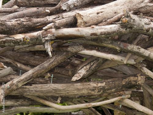 Foto op Canvas Brandhout textuur Rustic wood pile texture pattern