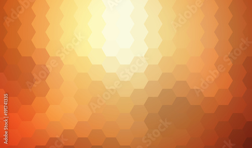 Orange mosaic background, interesting hexagonal pattern