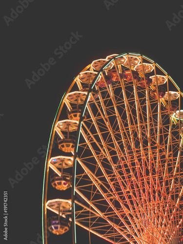 Big Wheel on a fun fair at night - 191742351