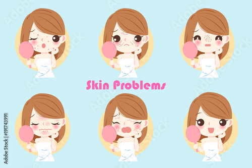 woman with skin problem