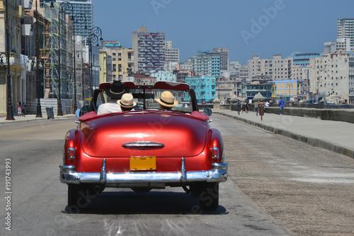 Deurstickers Havana Un paseo en coche por la Habana
