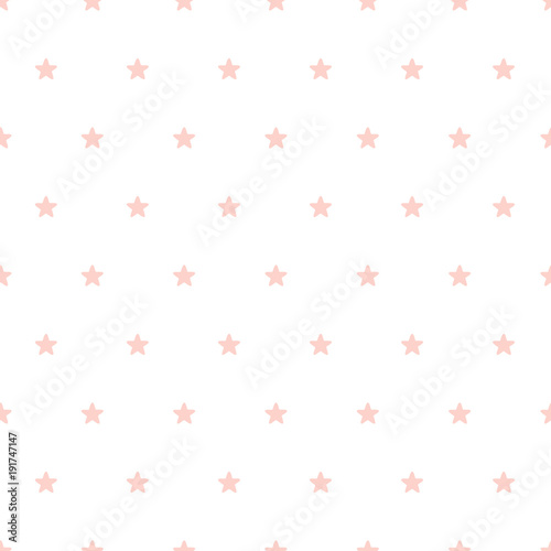 Cute small hand drawn stars seamless vector pattern - 191747147