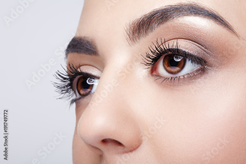 Plakat Female eye zone and brows with day makeup