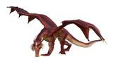 3D Rendering Fantasy Dragon on White - 191751928