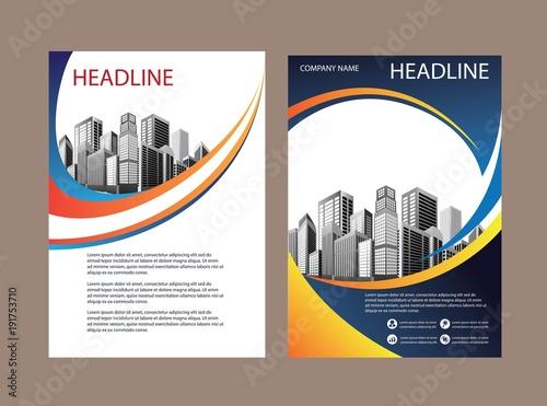 design cover book business brochure template - Settlement Brochure Template