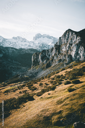 Foto op Canvas Groen blauw Picos de europa lagos de covadonga
