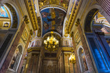 Interior and arches of St. Isaac's Cathedral - 191760565