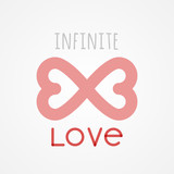 Infinite love. Flat design, vector illustration - 191762514