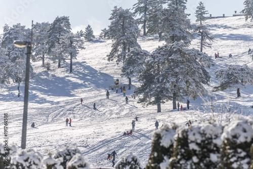 Fotobehang Grijs snow mountain landscape