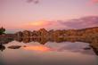 Scenic Sunset Reflection at Watson Lake Prescott Arizona