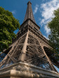 Close up view of the Eiffel Tower