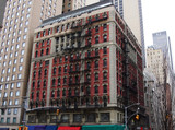 New Yorker house with fire stairs - 191767701