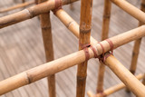 Tied bamboo structure