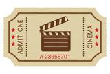 Cinema paper ticket. Old retro styled ticket - 191771511