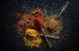 Various colorful spices - 191778533