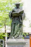 Statue of the Dutch Renaissance humanist Erasmus of Rotterdam at Grotekerkplein, Rotterdam, Netherlands - 191779558