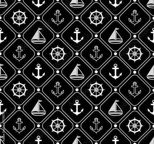 Materiał do szycia Morskich wzór. Odpowiedni dla tapet, papier, ozdoba.