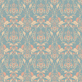 Seamless vintage vector background. Vector floral wallpaper baroque style pattern - 191790323