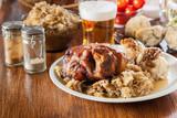Pork knuckle with fried sauerkraut - 191795188