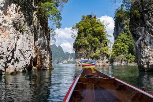 Fotobehang Thailand lake khao sok national park