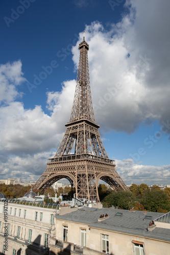 Tuinposter Parijs Vue de la Tour Eiffel