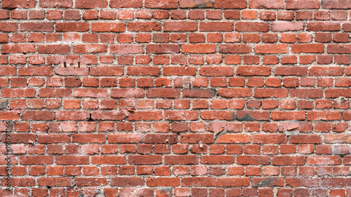 Papiers peints Brick wall Old red brick wall as background or texture