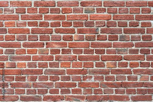 Foto op Plexiglas Baksteen muur Old red brick wall as background or texture