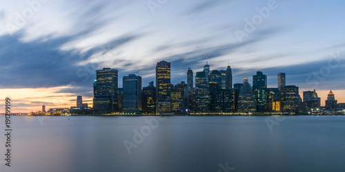 Papiers peints New York Lower Manhattan Skyline from Brooklyn