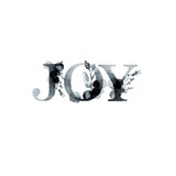 Joy - floral artistic lettering word. Modern alphabet greeting card. Watercolor Illustration. Isolated on white background. Perfect for banner, card, wedding invitation. - 191801394