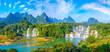 Waterfall of landscape scenery