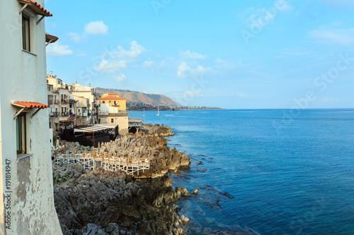 Foto op Aluminium Palermo Cefalu coast view Sicily, Italy