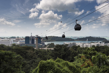 Singapore Cable Car, Mount Faber to Sentosa, Singapore