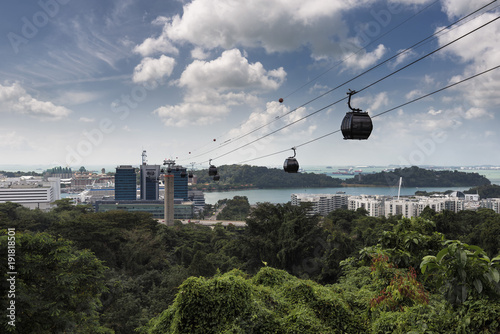 Singapore Cable Car, Mount Faber to Sentosa, Singapore