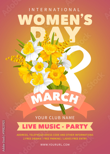 Womens Day party flyer
