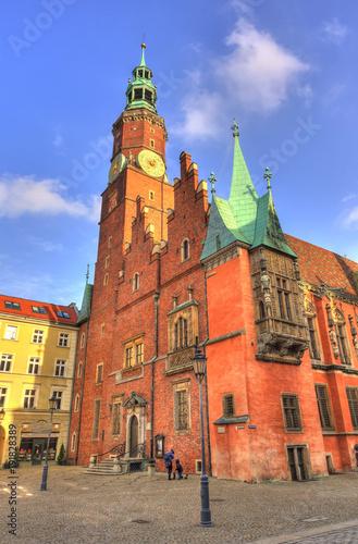 Fotobehang Praag Wroclaw, Poland