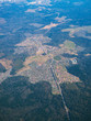 View from airplane on Earth surface. Suburb. With some hot air effect. - 191828957