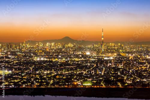 Foto op Plexiglas Tokio Tokyo Sunset