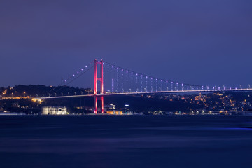 Bosphorus Bridge istanbul Turkey ( July 15 martyr bridge ) magnificent view of istanbul