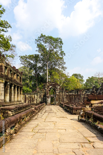 Foto op Aluminium Beige Outside one of the temples of Angkor Wat complex in Siem Reap, Cambodia