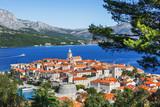 View of the Korcula town, Korcula island, Dalmatia, Croatia - 191848109