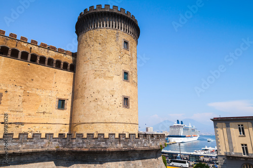 Tuinposter Napels Castel Nouvo, Naples, Italy. Old fortress