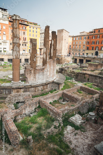Foto op Canvas Rome Largo di Torre Argentina square in Rome